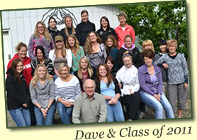Dave Collins (front center) with Class of 2011